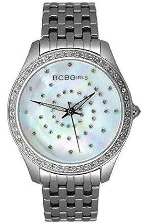 BCBGMAXAZRIA BCB Girls Women's Quartz Watch Crystal Accented Streak Dial with Metal Strap GL4017