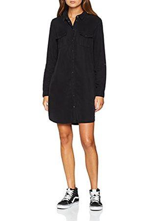 Vero Moda Women's Vmsilla Ls Short Dress Blck Noos Ga