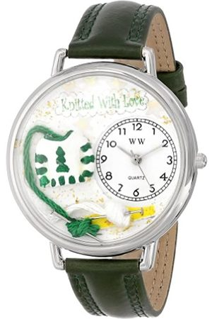 Whimsical Watches Nurse Red Leather and Silvertone Unisex Quartz Watch with Dial Analogue Display and Leather Strap S-0610030