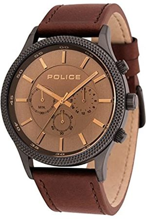 Police Mens Chronograph Quartz Watch with Leather Strap 15002JSU/13