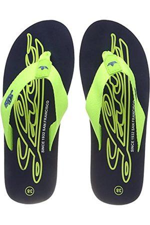 LICO Unisex Kids' Flamenco Beach & Pool Shoes, (Marine/Lemon Lot)