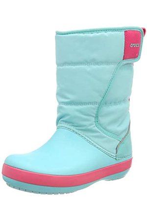 Crocs Kids' LodgePoint Snow Boots, (Ice /Pool 4ja)