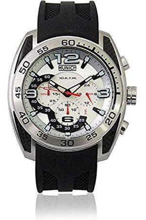 Munich Unisex Adult Analogue Quartz Watch with Rubber Strap MU+133.1B