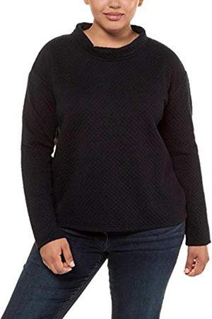 Ulla Popken Women's Struktur-Sweater Mit Kragen Jumper