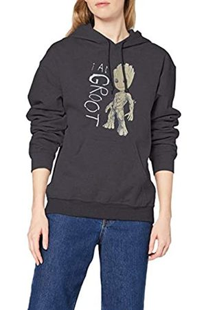 Marvel Women's Guardians of The Galaxy Vol.2 I Am Groot Scribbles Hoodie