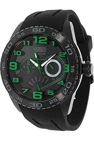 Munich Unisex Adult Analogue Quartz Watch with Rubber Strap MU+136.1B