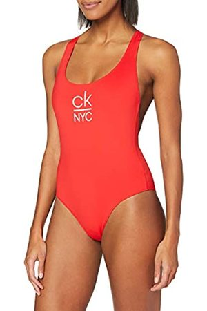 Calvin Klein Women's Racer Back ONE Piece Bikini Top