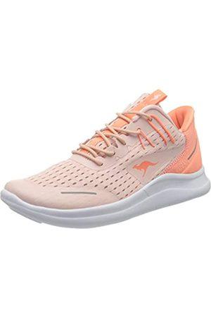 KangaROOS Kg-deft, Women's Low-Top Sneakers Low-Top Sneakers, Multicoloured (Frost /Coral 6188)