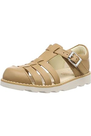 Clarks Girls' Crown Stem T Closed Toe Sandals, (Tan Leather-)