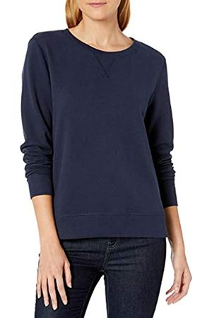Amazon French Terry Fleece Crewneck Sweatshirt Navy
