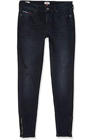 Tommy Hilfiger Women's Mid Rise Skinny Nora 7/8 Zip CPT Straight Jeans