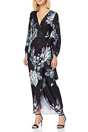 Little Mistress Women's Roxby Black Floral Long-Sleeve Maxi Dress Party