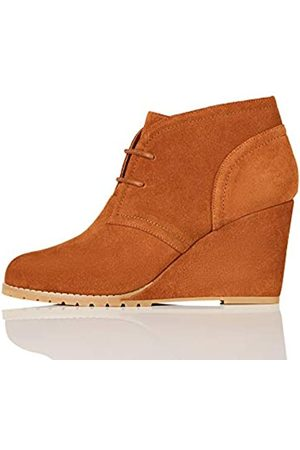 find. Lace Up Wedge Bootie Ankle Boots, Tan)