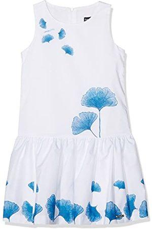 Conguitos Girl's Vestido Niña Flores Azul Cover up