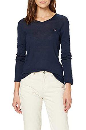 Tommy Jeans Women's Tjw Fitted Sleeve Detail Sweater Sweatshirt