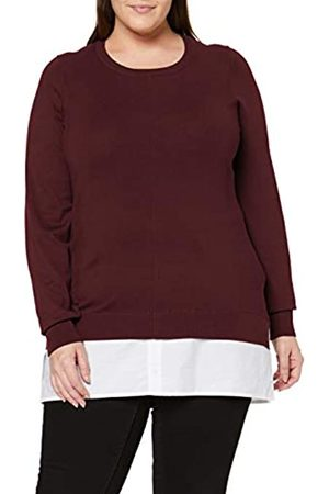 Dorothy Perkins Curve Women's 2 in 1 Jumper fine Gauge poplin Plain