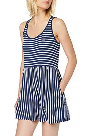 Tommy Jeans Women's Tjw Summer Stripe Playsuit Dress, (Estate /Classic 419)