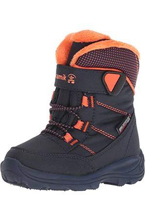 Kamik Unisex Kids' Stance Snow Boots, (Navy & Flame NFL)