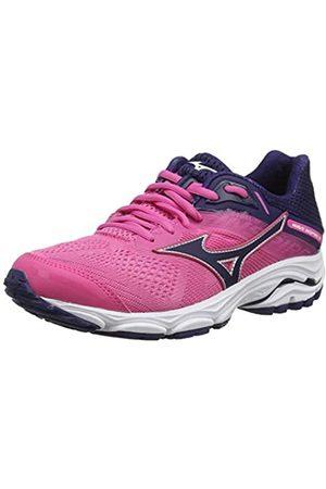 Mizuno Womens' Wave Inspire 15 Running Shoes, (Carminerose/Astral Aura 28)