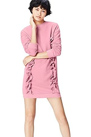 FIND Women's Sweatshirt Ruffle Trim Oversized