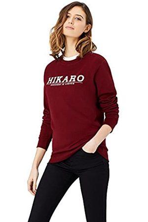 HIKARO Amazon Brand - Women's Logo Top, Multicolour (Gingham Black / Gingham ), 8