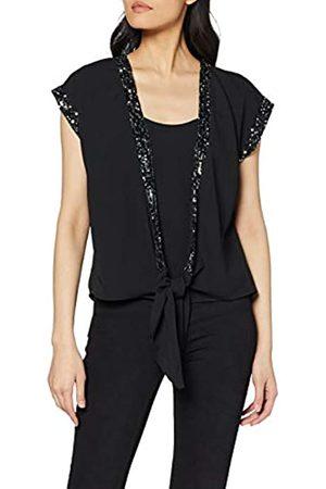 Dorothy Perkins Women's Embellished Trim Tie Front Top Blouse