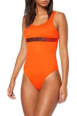 Calvin Klein Women's Scoop Back One Piece-rp Swimsuit