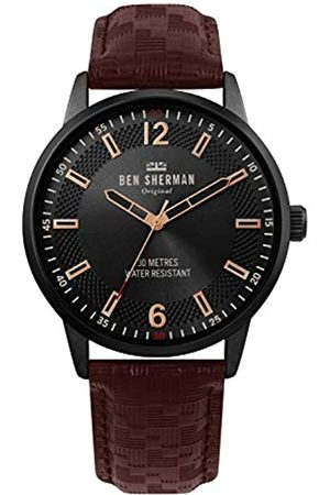 Ben Sherman Mens Analogue Classic Quartz Watch with Leather Strap WB029TB