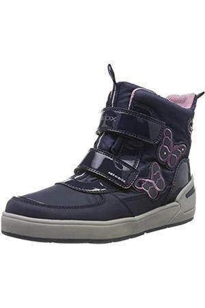 Geox Girls' J SLEIGH B ABX A Snow Boots, (NAVY/DK LILAC CF48E)