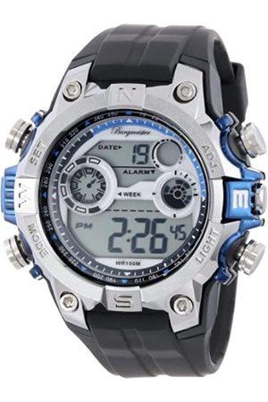 Burgmeister BM800-112C Digital Power, Gents Alarm Watch, Digital Display, Quartz with Citizen Movement - Water Resistant, Trendy Silicone Strap