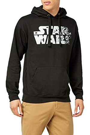 Star Wars Men's Rebel Text Logo Regular Fit Long Sleeve Hoodie