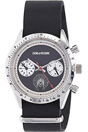 Zadig & Voltaire Unisex Analogue Classic Quartz Watch with Leather Strap ZVM107