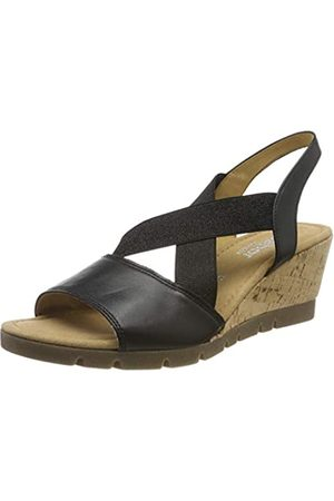 Gabor Shoes Women's Comfort Sport Ankle Strap Sandals, (Schwarz(Kork/Amber) 57)