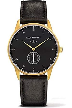PAUL HEWITT Unisex Analogue Quartz Watch with Leather Strap PH-M1-G-B-2M