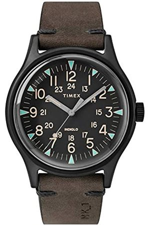 Timex Mens Analogue Classic Quartz Watch with Leather Strap TW2R96900