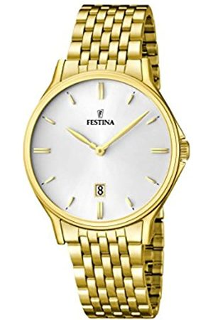 Festina Men's Quartz Watch with Dial Analogue Display and Stainless Steel Plated Bracelet F16746/1