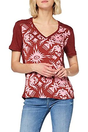 Scotch&Soda Women's Short Sleeve Tee with Printed Woven Front Panel T-Shirt