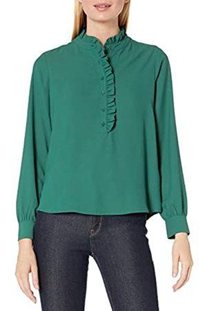 Lark & Ro Long Sleeve Ruffle Placket Button-up Blouse Dress