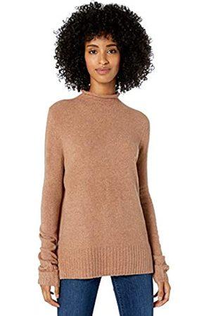 Goodthreads Mid-gauge Stretch Funnel Neck Sweater Caramel Heather
