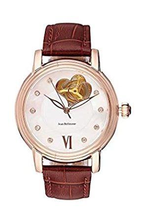 Jean Bellecour Unisex-Adult Analogue Classic Quartz Watch with Leather Strap REDM1