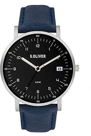 s.Oliver Quartz Watch with Real Leather Strap SO-3994-LQ