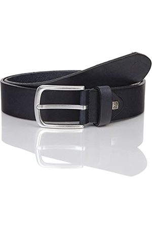 LINDENMANN The Art of Belt by Mens leather belt/Mens belt, full grain leather belt with effect, unisex, navy