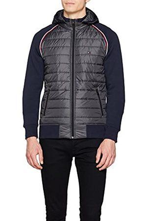 Tommy Hilfiger Men's Nylon Front Panel Hooded Zip Through Sweatshirt
