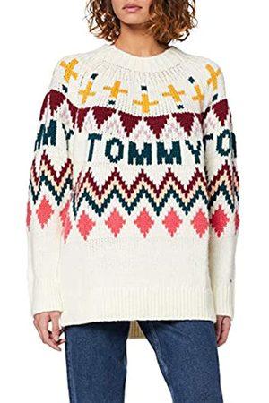 Tommy Jeans Women's Tjw Tommy Fairisle Sweater Sweatshirt