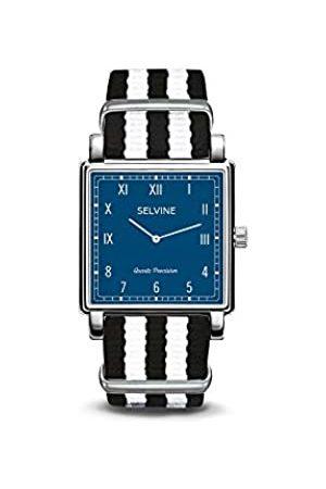 Selvine Unisex-Adult Analogue Classic Quartz Watch with Nylon Strap SPRE3