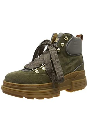 SCOTCH & SODA FOOTWEAR Women's CARA Combat Boots, (Olive S74)