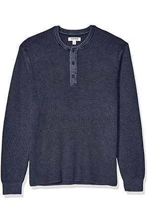 Goodthreads Soft Cotton Henley Sweater Washed Navy