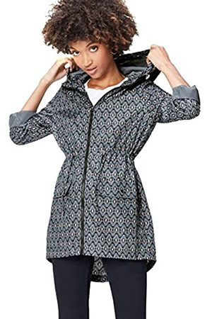 find. Women's Raincoat in Floral Pac-a-Mac, with Drawstring Hood and Waist and Zip Fastening