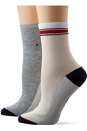 Tommy Hilfiger Women's Th Short Sock 2p Translucent Calf