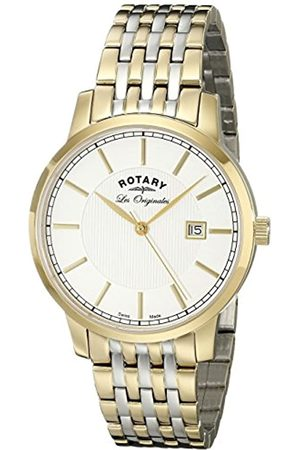 Rotary Men's Quartz Dial Analogue Display and Multi-Colour Stainless Steel Plated Bracelet GB90079/03